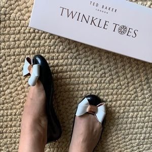 Ted Baker London 40 black jelly twinkle toes 9M